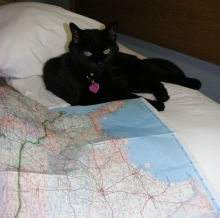 Shadow planning our route