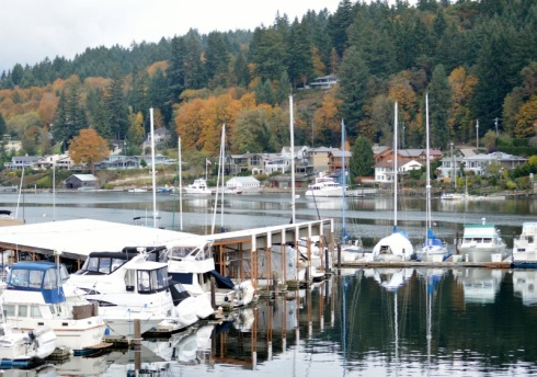 Fall day in harbor