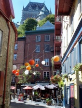 Lower Town, many marvelous restaurants