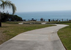 park and ocean walkway