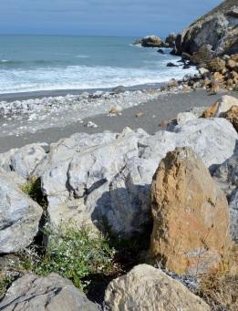 rocky beach ...