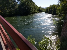 Boise River, foot bridge