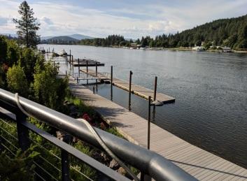 Breakfast view, Spokane River
