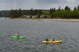 Kayak around lake