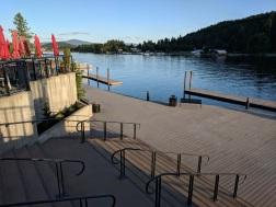 Le Peep Cafe overlooking Spokane River