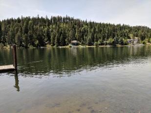 Looking across Spokane river