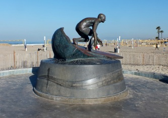Tim Kelly Surf Statue, HB