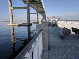 Walk the pier .. under the bridge to Charleston