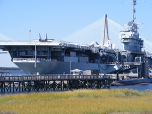 Yorktown with Ravenal Bridge in background