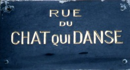 Street sign in St Malo, France