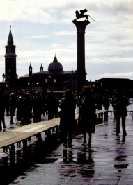 Venice - walk on planks when high water