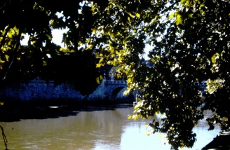 Walking along the Tiber