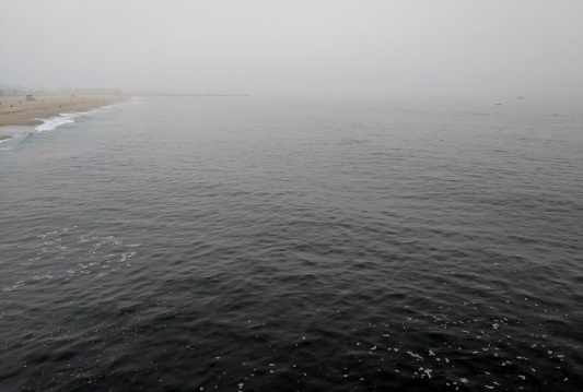 Foggy morning, from the Pier