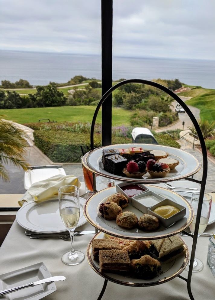Afternoon Tea at the Trump National Golf Club, Palos Verdes, CA