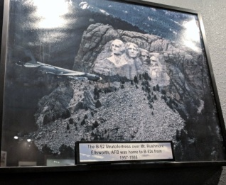 B-52 Stratofortress over Mt Rushmore