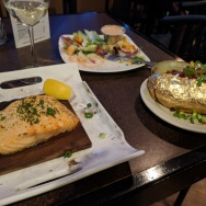 Delicious Salmon & baked potato